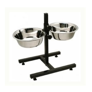 Buy Pet Feeding Stand with 2 Bowls Large Pgpet in low price online at Petindiaonline