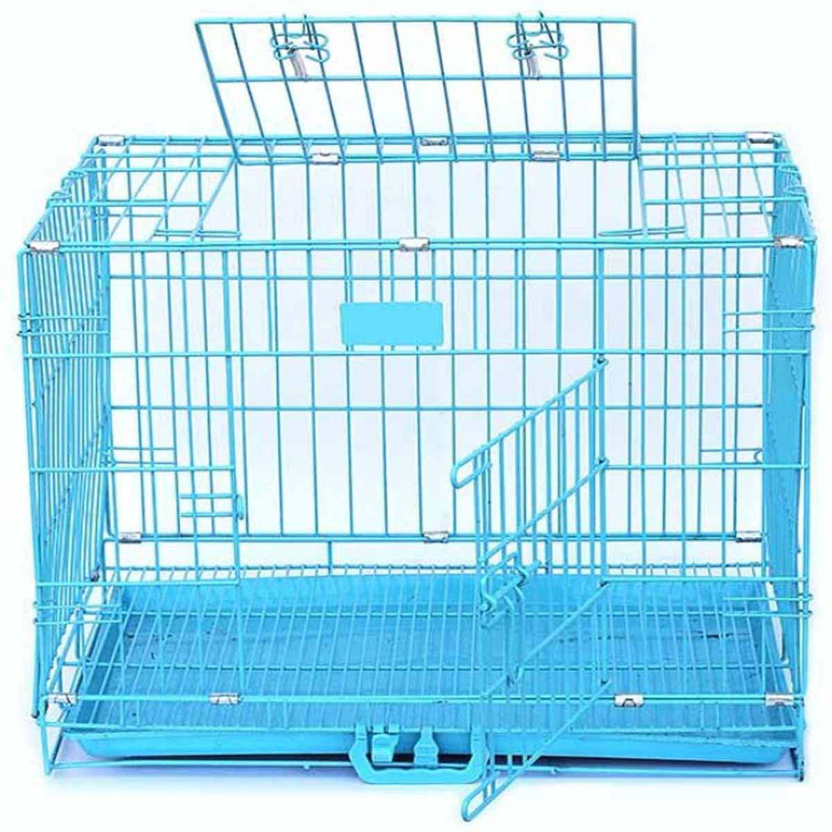 Buy 2 Ft Blue Dog Cage,dog cage,cat cage in low price online at Petindiaonline